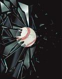 Basebol de vidro quebrado Imagens de Stock Royalty Free