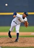 Basebol do campeonato menor - jarro Fotografia de Stock