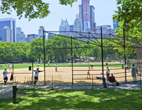 Basebol do Central Park Imagem de Stock Royalty Free