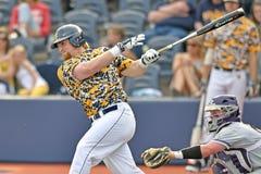 2015 basebol do NCAA - TCU @ WVU Foto de Stock