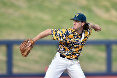 2015 basebol do NCAA - TCU @ WVU Fotografia de Stock Royalty Free