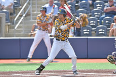 2015 basebol do NCAA - TCU @ WVU Fotos de Stock