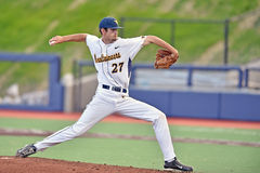 2015 basebol do NCAA - WVU-TCU Foto de Stock Royalty Free
