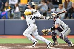 2015 basebol do NCAA - WVU-TCU Imagens de Stock