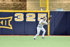 2015 basebol do NCAA - WVU-TCU Fotos de Stock Royalty Free