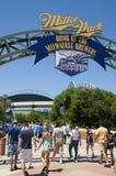 Basebol dos Milwaukee Brewers MLB do parque de Miller imagens de stock royalty free