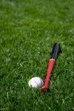 Basebol e bastão Fotos de Stock