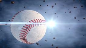 Basebol e bola Fotografia de Stock