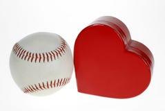 Basebol e coração Foto de Stock