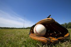 Basebol e luva Foto de Stock