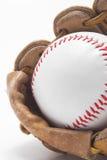 Basebol e luva de basebol Fotografia de Stock