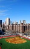 Basebol em Manhattan fotografia de stock royalty free
