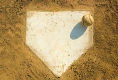 Basebol na HOME Foto de Stock