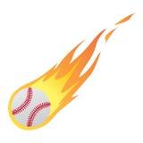 Basebol no fogo Fotografia de Stock Royalty Free