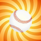 Basebol no fundo alaranjado -   Fotografia de Stock