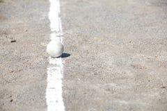 Basebol no monte de jarros Fotos de Stock
