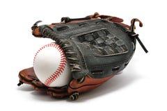 Basebol novo e luva fotografia de stock royalty free