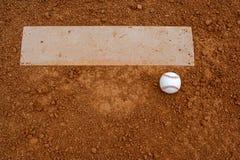 Basebol perto do monte de jarros Fotos de Stock Royalty Free