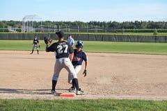 Basebol U14 da liga júnior Imagens de Stock Royalty Free