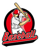 Basebollspelare som är klar att slå Arkivbild