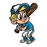 Basebollspelareunge Fotografering för Bildbyråer