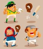 basebollspelarevektor Arkivbild