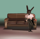 Based on the movie Rabbits. The characters a film Rabbits. Directed by David K. Lynch. Hand vector illustration Stock Photo