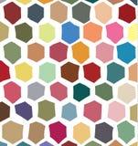 Baseerden de digitaal gecreeerde, onregelmatige zeshoeken kleurrijk patroon Royalty-vrije Stock Afbeelding