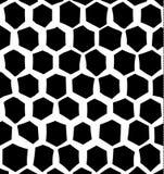 Baseerden de digitaal gecreeerde, onregelmatige zeshoeken zwart-wit patroon Stock Afbeeldingen