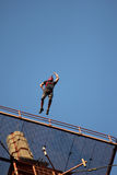 Basejumper. Jumps of antenna high up Royalty Free Stock Photos
