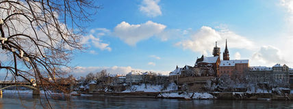 Basel. Panoramic view of the city of Basel during winter Stock Photo
