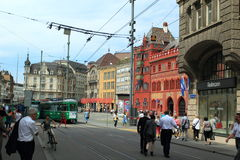 Basel. The historic center of Basel, Switzerland Royalty Free Stock Images