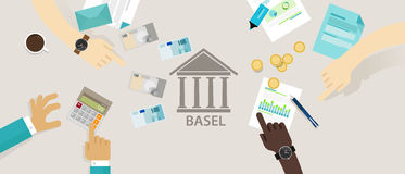 Basel accord Committee on Banking Supervision International regulatory framework for banks Royalty Free Stock Image