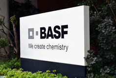 Basel, BASF - tworzymy chemię Zdjęcia Royalty Free