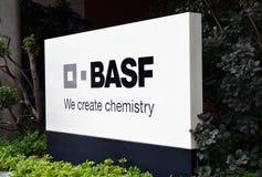 Basel, BASF - wir schaffen Chemie Lizenzfreie Stockfotos