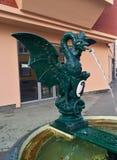 Basel bazyliszkowa wodna fontanna zdjęcie stock