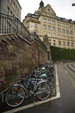 Basel - bicycle parking Stock Photo