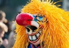 Basel Carnival, Classic Waggis Mask Stock Image