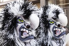 Basel carnival 2019 double masks royalty free stock photography