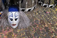 Basel carnival 2019 masks and snare drums royalty free stock photos