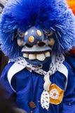 Basel carnival 2019 single blue waggis mask royalty free stock photo
