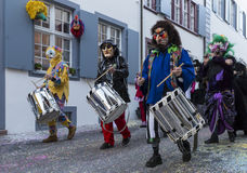 Basel carnival 2017 snare drum players Stock Photography