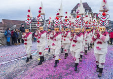 2017 Basel Carnival. BASEL , SWITZERLAND - MARCH 08 : Participants in the Basel Carnival in Basel , Switzerland on March 08 2017. The Basel carnival has been Royalty Free Stock Photography