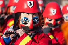 Basel Carnival, Traditional Flute Players Royalty Free Stock Image