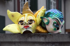Basel carnival masks Royalty Free Stock Photo
