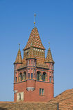 Basel city hall tower Stock Photography