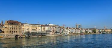 Basel city skyline Stock Photos