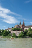 Basel Cityscape With Ferry Royalty Free Stock Photo