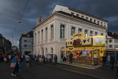 Hotel Merian in Basel with candy shop Stock Photos