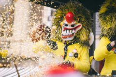 basel karneval arkivfoto